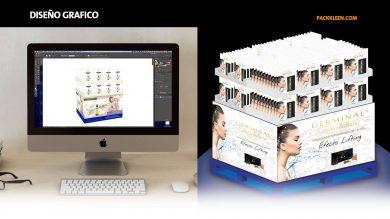 Diseño Grafico para empaque y diseño estructural para exhibidores de carton