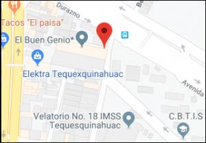 Mapa de ubicación de Pack-Kleen